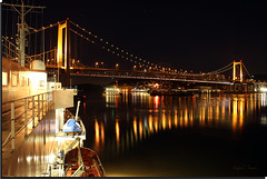 A Golden Bear Night   [Explored] (Morrow Cove Photographics) Tags: california bridge usa reflection cars water beautiful northerncalifornia night campus landscape photography lights evening boat photo university ship photographer traffic unitedstates image satellite picture vessel lifeboat photograph sanfranciscobayarea bayarea mast norcal vallejo solano antenna strait radar csu crockett 185 northbay goldenbear carquinez sanpablobay trainingship solanocounty californiastateuniversity alfredzampamemorialbridge tsgb calmaritime californiamaritimeacademy canoneos60d vallejobridge trainingshipgoldenbear zampabidge
