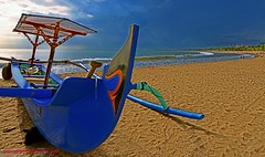 BBoat (klooozz) Tags: travel blue sea bali holiday beach landscape boat nikon asia ngc wide indo sandybeach yse