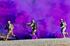 Purple smoke (The U.S. Army) Tags: reddevils livefire jrtc