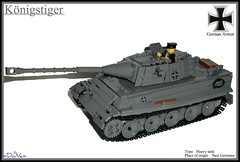 Lego ww2 -Knigstiger- (=DoNe=) Tags: legoww2knigstiger lego world war 2 tanks kingtiger tiger ii homemade custom ww2 vehicle done by viktor