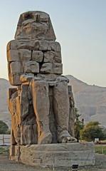 North Colossus of Memnon (Train Fan) Tags: statue temple tomb egypt luxor colossi necropolis thebes ancientegypt colossus memnon colossiofmemnon amenophis colossusofmemnon newkingdom thebannecropolis theban