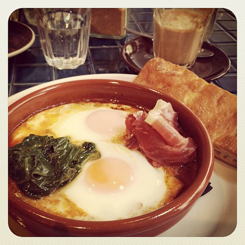 Baked eggs with jamon. #surryhills