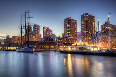 Harbourfront (roken-roliko) Tags: lake toronto lines lights harbourfront hdr nightcityscape rolandshainidze