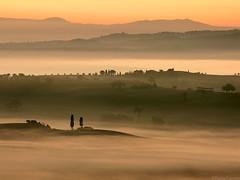 Tuscany Morning #8 (Corsaro078) Tags: mist fog landscape tuscany siena toscana nebbia paesaggio colline cretesenesi d90 sanquirico