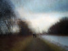 A SUNSET WALK (the way young lovers do) (kenny barker) Tags: longexposure winter sunset blur art texture landscape lumix scotland canal impressionism icm falkirk camelon alwaysexc saariysqualitypictures panasonicg1 kennybarker
