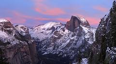 Painted Evening,  Yosemite (Rob Macklin) Tags: winter sunset snow yosemite halfdome cloudsrest 4miletrail robmacklinphotography