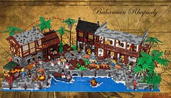 Bahamian Rhapsody (I Scream Clone) Tags: blue red port monkey lego pirates banana palm coats