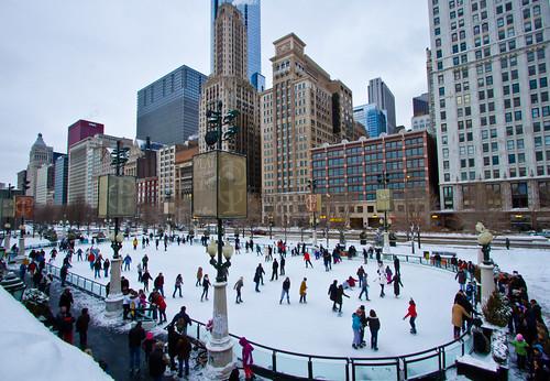 Chicago Ice Ice Skating,chicago Millenium