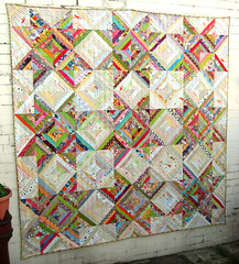Spring Clean quilt (flossyblossy) Tags: paper quilt fat foundation quilting string value patchwork scrap piecing quarterly