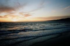 santa monica sunset (oceanerin) Tags: leica sunset beach santamonica portra m6 elmarit roll59
