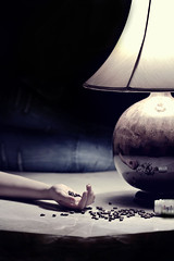 [3/?] , Hallucinations Or Addiction ?! (EXPLORED) (F l S f a h .. ) Tags: white black coffee canon dark photography suicide medicine hallucination pills tiredness addiction disease      flsfah