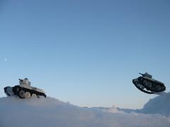BT-5 tanks in action (Rebla) Tags: tank lego micro russian bt5