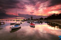 Atardecer en la Ribera (tpeñalver - www.tomaspenalver.es) Tags: sunset boats atardecer barcos murcia 7d santiagodelaribera hitechndrv09