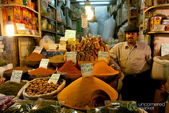 Spice Vendor at Market in Esfahan, Iran (uncorneredmarket) Tags: people man iran spices vendor esfahan isfahan spicemarket spicevendor iranianman