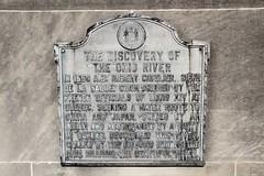 Ohio River Discovery Historic Marker (cmh2315fl) Tags: kentucky indiana louisville ohioriver historicbridge clarkcounty jeffersoncounty nationalregisterofhistoricplaces jeffersonville nrhp louisvillemunicipalbridge georgerogersclarkmemorialbridge