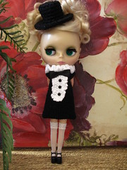 TRADITIONAL TUXEDO Dress in Black and White;  by Swan Love Designs