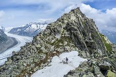 Eggishorn (Robert J Heath) Tags: snow alps walking rocks hiking scenic rocky glacier swissalps