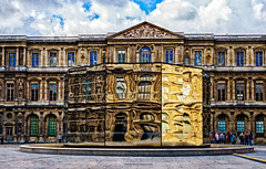 What is reality? (Tigra K) Tags: city travel paris france reflection glass architecture ledefrance louvre fr 2016 otherart