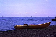 13 (azhukau) Tags: summer ontario canada film water sport analog coast boat kayak outdoor shoreline shelf velvia shore fujifilm lakeontario cy activities carlzeiss 2015 lakescape contaxrx rvp50 distagont35mmf28 minoltadimagescandual4