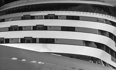 AIDA (Karl-Heinz Bitter) Tags: windows bw monochrome blackwhite warnemnde ship fenster details monochrom decks hafen schiff cruiser rostock kreuzfahrtschiff reeling aidamar