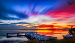 Sunset at squids Ink (Serene Escape Photography) Tags: sunset colour clouds canon newcastle jetty tokina squidsink