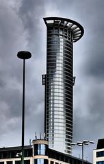P1020078c - Wolkenkratzer (JB Fotofan) Tags: building clouds lumix grey frankfurt wolken grau hauptbahnhof gebude hochhaus inexplore fz1000 dmcfz1000