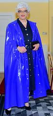 Ingrid022229 (ingrid_bach61) Tags: shiny dress skirt mature button cape through pvc pleated kleid glnzend faltenrock durchgeknpft