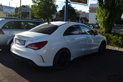 Mercedes-Benz CLA 45 AMG C117 (Dominik Bytner) Tags: sun white sport shop photography mercedes benz nikon parking poland polska automotive german mercedesbenz polarized coupe lidl amg carspotting c117 inowroclaw inowrocaw cla45