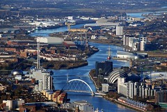 River Clyde, Glasgow from the Air (Vic Sharp) Tags: above city uk bridge urban water museum river landscape scotland riverclyde clyde tv scenery europe european ship cityscape view riverside glasgow air centre transport central flight scenic scottish aerial estuary arena helicopter maritime bbc gb getty tallship shipyard secc imax strathclyde govan braehead squinty pacificquay stv crowneplaza scottishexhibitionconferencecentre festivalpark cityinn clydearc kinggeorgevdock rnbclyde braeheadretail