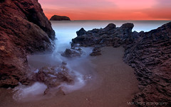 The Cove (Matt Granz Photography) Tags: ocean california desktop sunset wallpaper motion blur beach water night photography evening twilight rocks long exposure pacific dusk earth cove marin alien surreal headlands rodeo stacks mattgranz