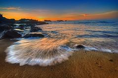 splash at mengening beach (tut bol) Tags: bali beach water rock sunrise landscape kuta legian seabreeze badung ngm tabanan mengening