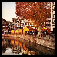 The Christmas markets of Strasbourg have opened (radiowood) Tags: christmas winter france square medieval strasbourg alsace squareformat hefe iphoneography instagramapp uploaded:by=instagram foursquare:venue=4bdedad86198c9b62a1015ff