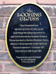Photo of John Gomersall, Odeon Cinema, Warrington, and Charles Lutwidge Dodgson black plaque
