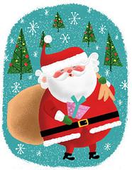Christmas Card (Brad*Renner) Tags: santa christmas illustration card