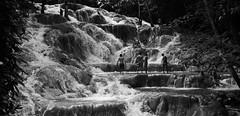 Climbing the Falls (halifaxlight) Tags: bw river tourists climbing pools waterfalls jamaica ochorios dunnsriverfalls flickraward theperfectphotographer mothernaturesgreenearth ringexcellence