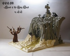 Secret of the Holy Grail ('LL') Tags: snow tree castle classic rock work cross lego secret holy cc cave ccc grail ll lolino cccix