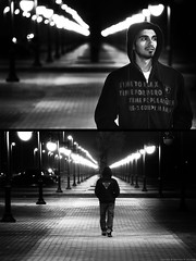 Im NOT afraid to walk this world ALONE! (Abdulaziz Al-furaydi) Tags: road street canon alone walk saudi arabia afraid riyadh portriat ksa 550      550d  canon550      canon550d 550 550 550
