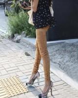 988371高档卷卷裤—咖啡色-(日韓女裝批發-www.ef1688.com)
