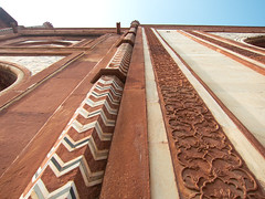 Taj Mahal Mosque Detail