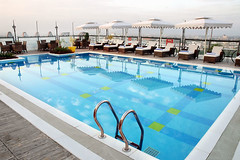 Swimming Pool (Travelive) Tags: india monument delhi tajmahal palace exotic pools celebrities fountains ambassador comfort princes royalty hospitality emperor lawns statesmen presidentialsuite amenities luxuryvacations indiahotels delhihotels luxuryhoneymoons graceandcharm tajclub moorishmughalarchitecture ramadaplazajaipur