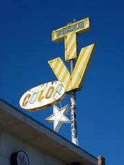 Tucson, AZ Flash TV neon sign (army.arch) Tags: arizona color sign bulb star tv neon tucson flash ghost az