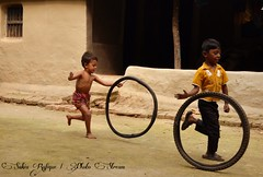 Happiness comes from Joy of childhood ... (Sakia Rafique) Tags: street nature kids children kid village child scene dhaka bangladesh savar kidsplaying lovechildren playingkids childrenofadam dhakabangladesh beautifulbangladesh childrenfromheaven dhakachildren nikond5100 sakiarafique kidsplayingwithtire sakiasphoto villagescenesofbangladesh