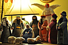 Boring Sunday afternoon photo (pentlandpirate) Tags: christmas xmas baby gabriel angel joseph gold three holidays sheep needlework shepherd mary jesus kings etsy knitted nativity woolly myrrh frankincense