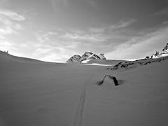 Plateau (sammckoy.com) Tags: sky mountain snow ski tree rock landscape skiing hut backcountry touring keiths skintrack mckoy sammckoy samckoy samuelmckoy