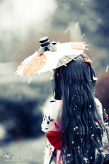 The First Snowfall (Miscasts) Tags: winter snow fire amber doll bjd dollfie soom leena purespirit supergem