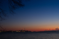 Before a Toronto Sunrise (Greg David) Tags: toronto torontoskylinesunrise torontosunrise sunrise torontoon torontoskyline lakeontariosunrise skyline ontario lake lakeontario dusk dawn