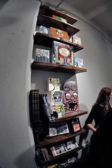 This Shelf (would look good in my house!) (damonabnormal) Tags: nyc streetart art brooklyn nikon gallery december roycebannon dumbo fisheye urbanart opening showing rwk abelincolnjr robotswillkill 2011 nikkor105mm d90 superwide choiceroyce mightytanaka