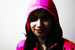 flickr (Muhammad Rubel Miah) Tags: pink wallpaper portrait color girl beautiful smile closeup asian fan flickr lips hood lipstick bangladesh flicker fasion sweetsmile flickerfan pingsmile