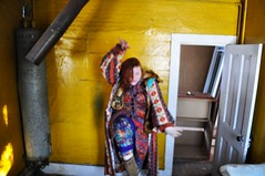307/365 (Carly Carpenter) Tags: woman house abandoned colors dance clothes cloak 365 365days 365project threesixtyfive