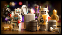 The Droid Christmas Party (R D L) Tags: lego robots c3p0 minifig cyberman series1 ig88 battledroid series6